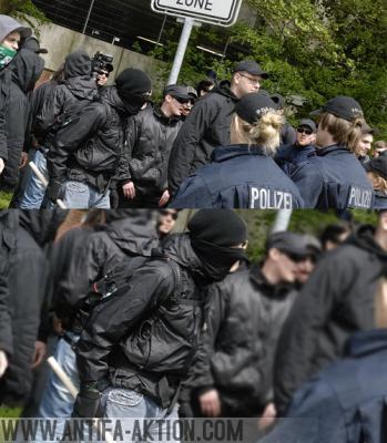 Vermummungsverbot, Polizei ignoriert Straftaten.